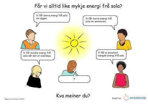 d12be62b naturfag.no: Får vi alltid like mykje energi frå sola?